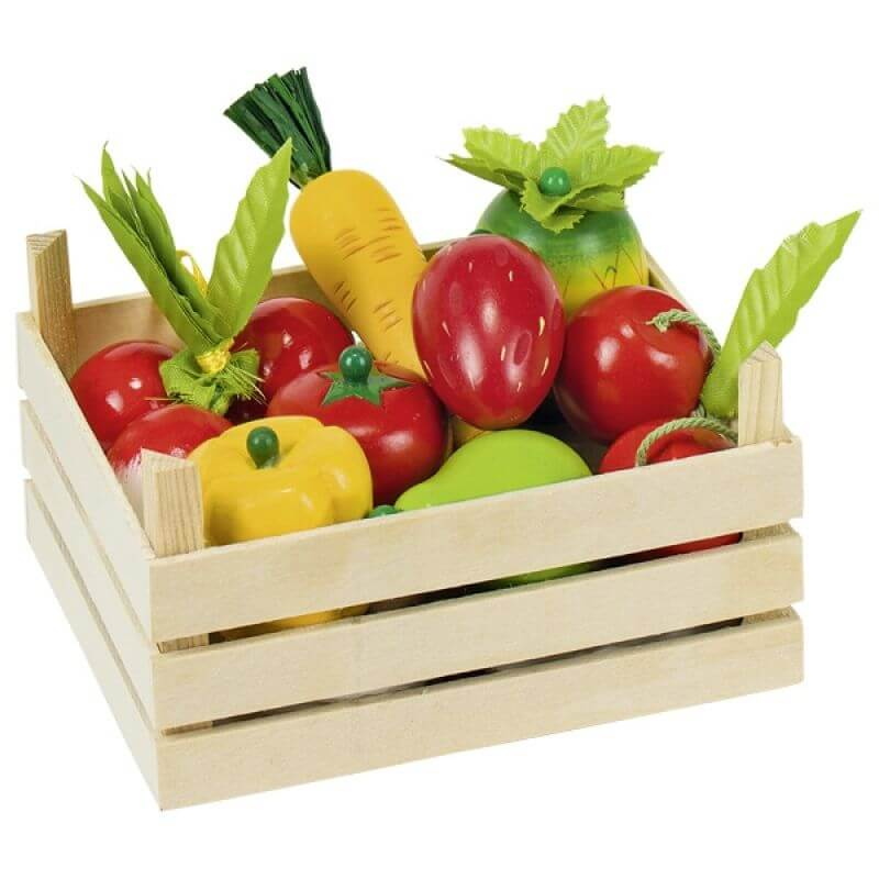 Warzywa i owoce w skrzyneczce