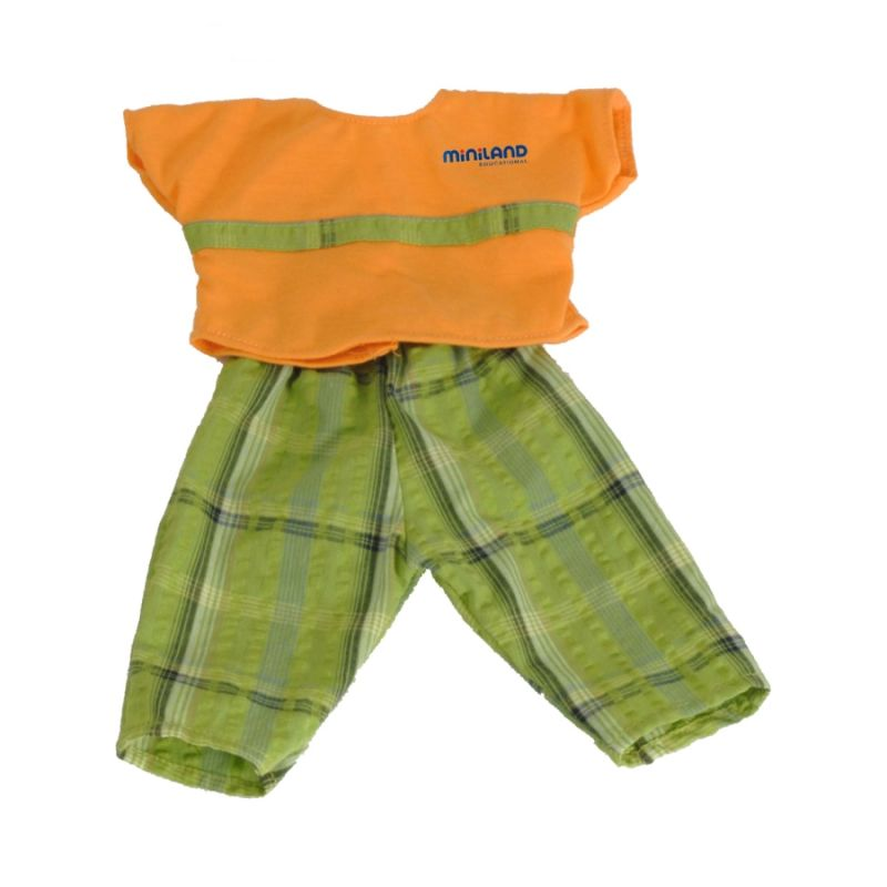 Ubranka dla lalek 40 cm - Pomarańczowa koszulka ze spodenkami