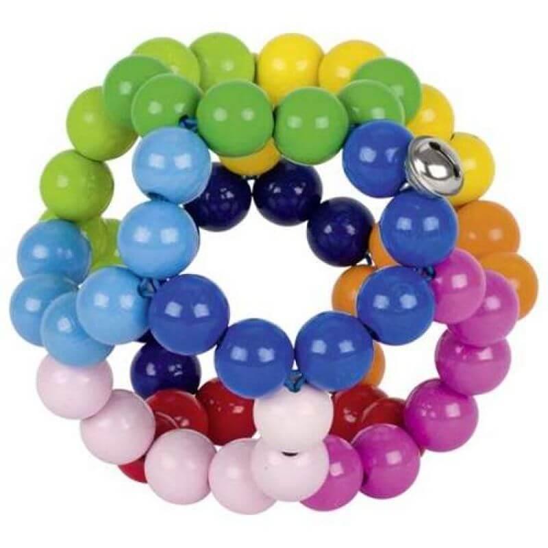 Grzechotka elastyczna piłka tęcza