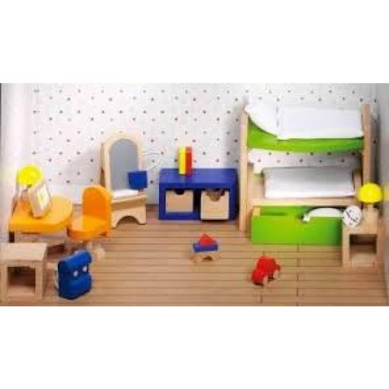 Wyposażenie domków - Pokój dziecięcy kolorowy