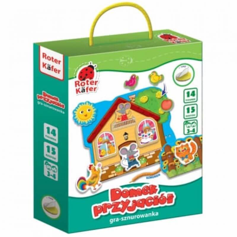 Domek przyjaciół - gra sznurowanka dla dzieci
