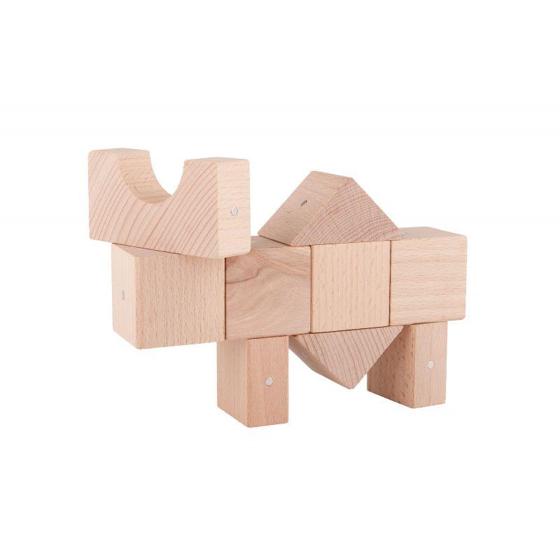 Drewniane Klocki Magnetyczne Kooglo K4050N Mini Natural