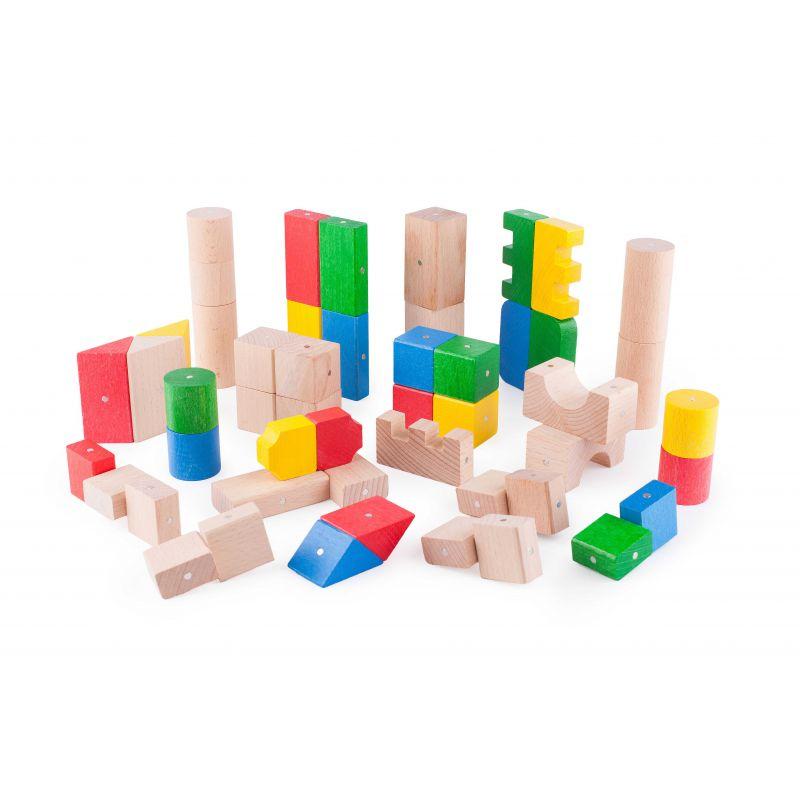 Drewniane Klocki Magnetyczne Kooglo K3050C Basic Color