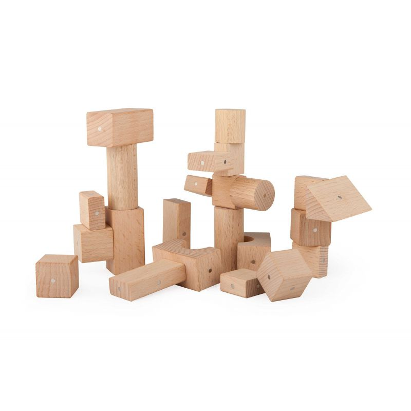 Drewniane Klocki Magnetyczne Kooglo K3050N Basic Natural