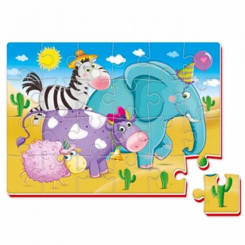 Piankowe puzzle safari