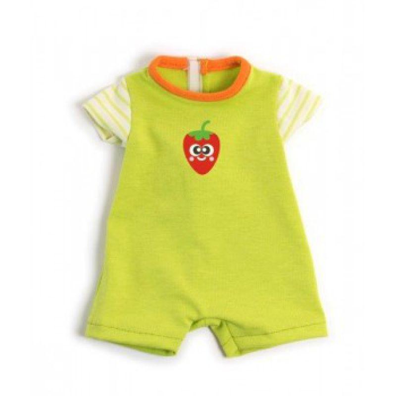 Ubranko dla lalki 40 cm zielona piżamka krótka