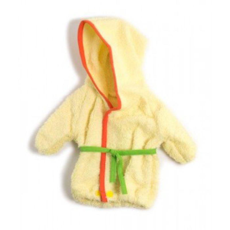 Ubranko dla lalki 40 cm żółty szlafrok