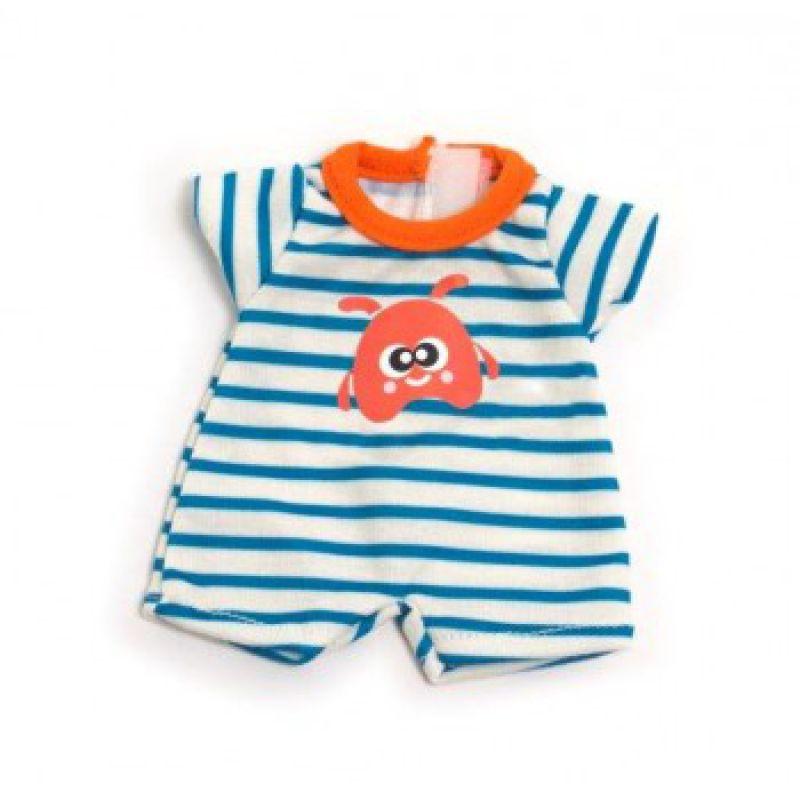 Ubranko dla lalki 21 cm piżamka w paseczki