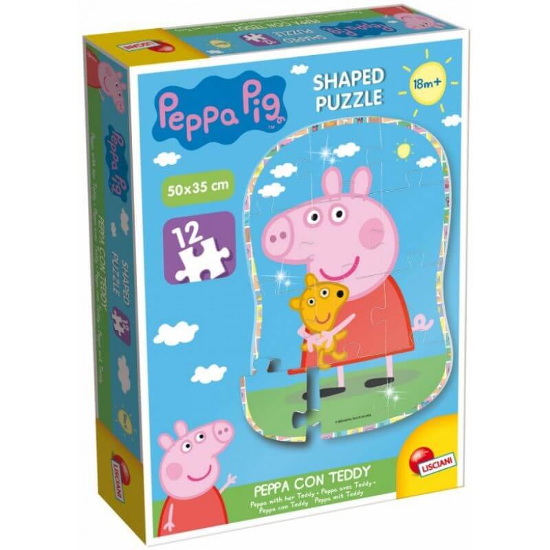 Puzzle Świnka Peppa z misiem