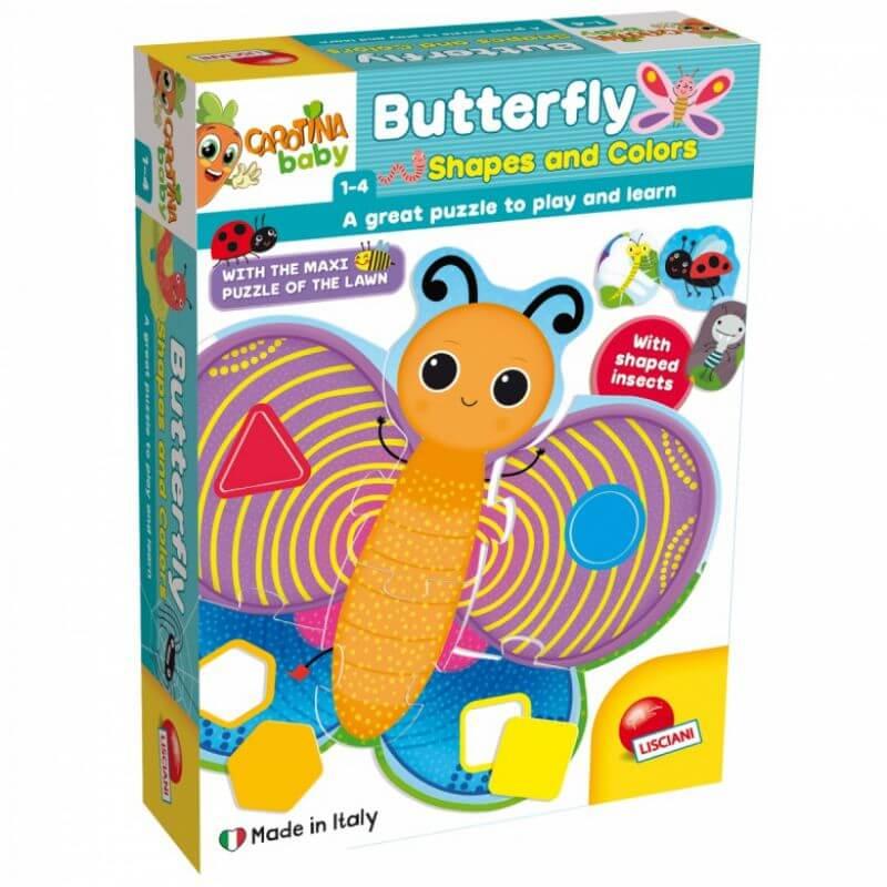 Carotina Baby Motyl - kształty i kolory puzzle