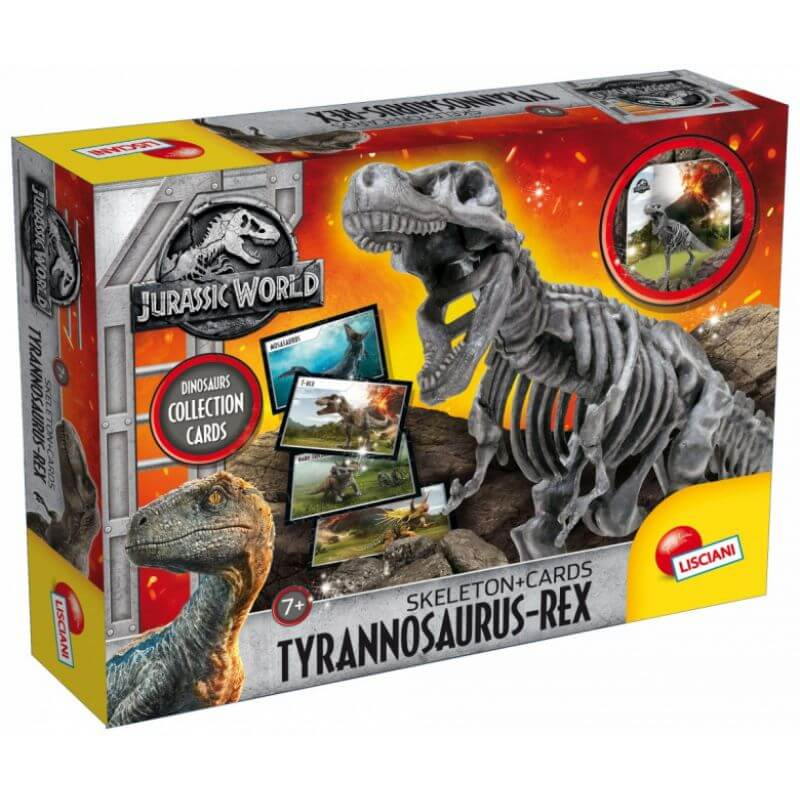 Jurassic World Szkielet Dinozaura T-Rex plus karty