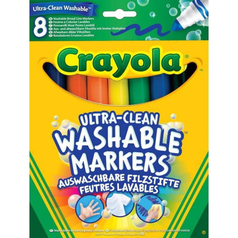 Duże zmywalne flamastry Crayola