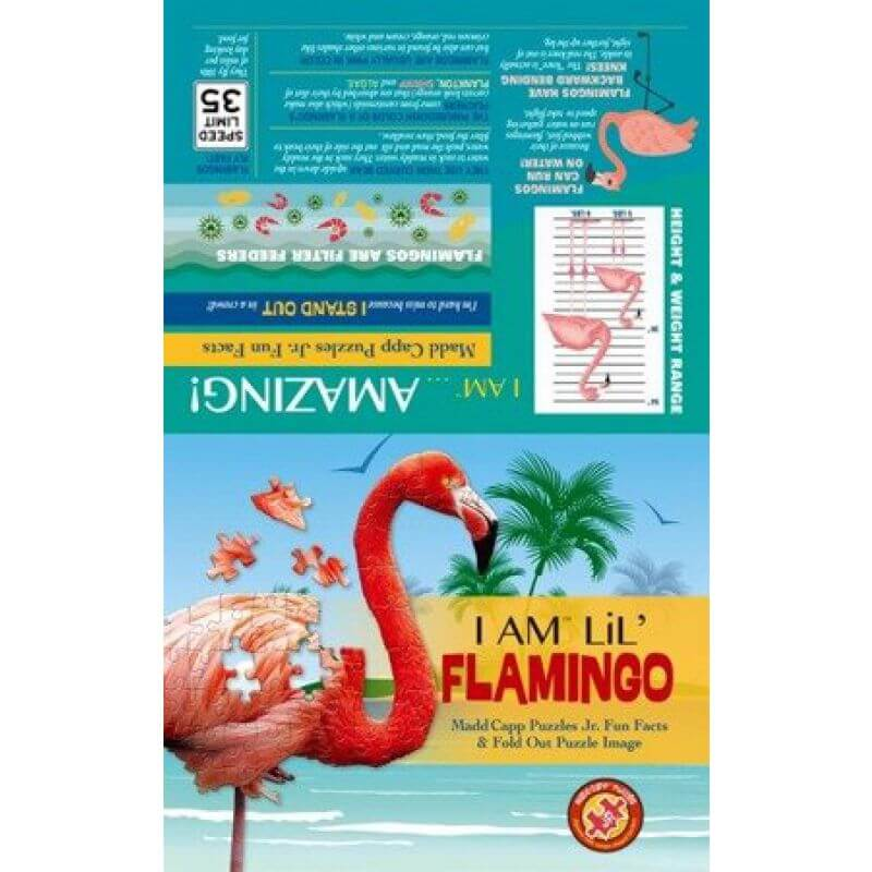 Puzzle I AM LIL' - FLAMINGO - Flaming