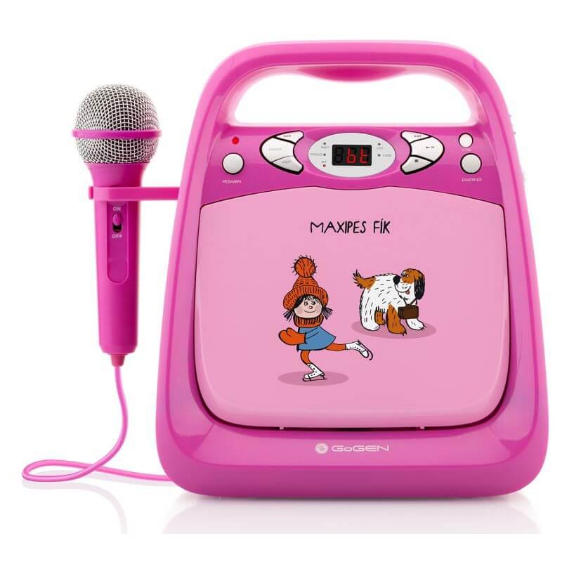 Odtwarzacz CD/mp3 i mikrofonem funkcją karaoke dla dzieci  - różowy