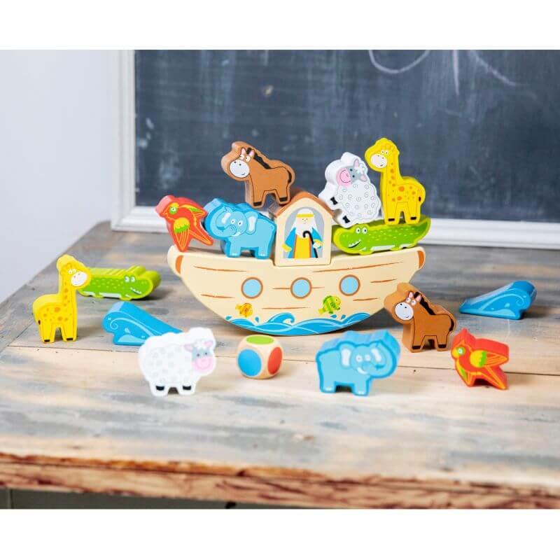 Drewniana gra balansująca - Arka Noego