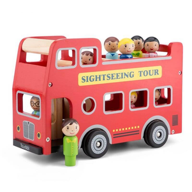 Drewniany autobus dwupiętrowy - zwiedzamy Londyn