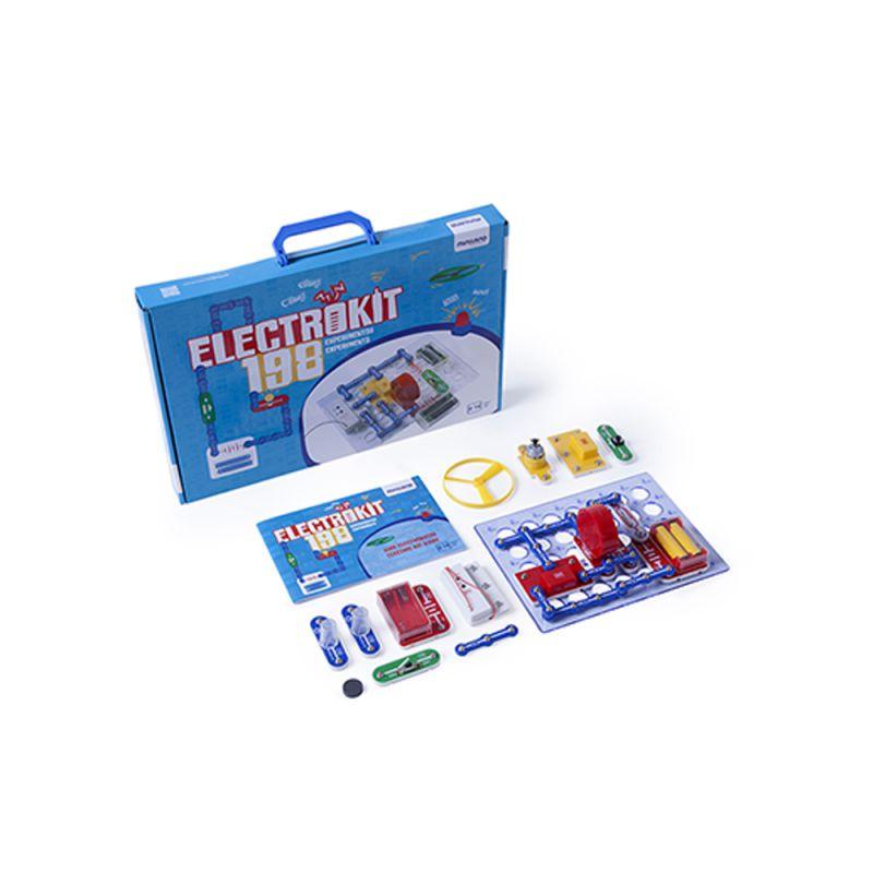Zestaw konstrukcyjny - edukacyjny - elektrokit 198 elementów