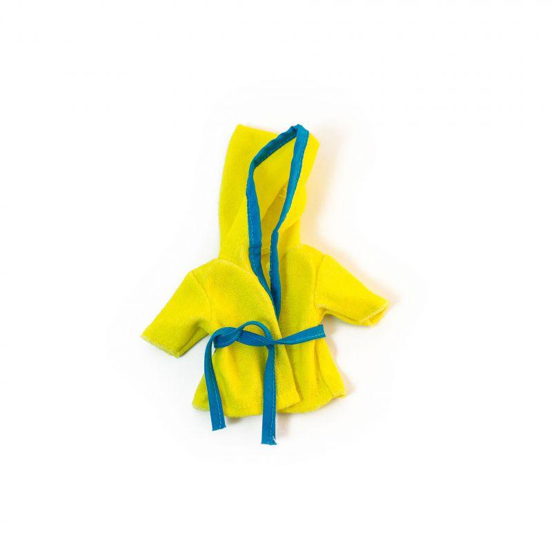 Ubranko dla lalki 21 cm żółty szlafrok