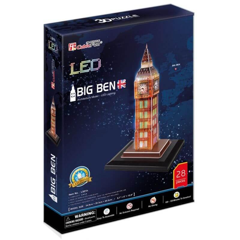 PUZZLE 3D LED Big Ben 28 elementów