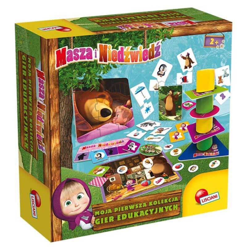 Masza i niedźwiedź - zestaw gier dla najmłodszych