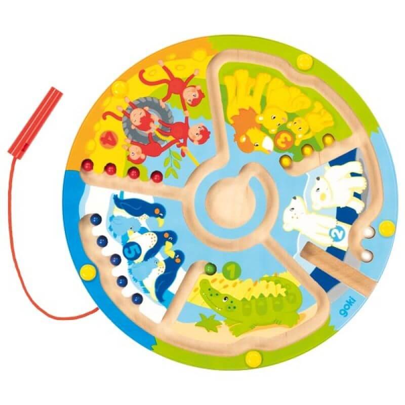 Gra magnetyczna Uczę się Liczyć - Zoo - labirynt