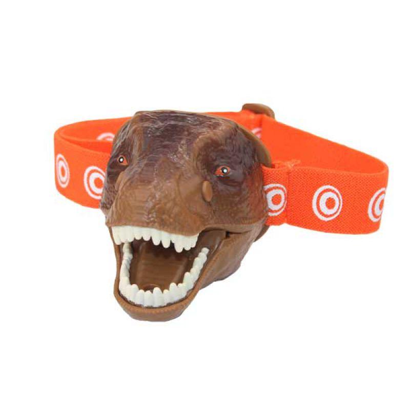 Latarka czołówka dinozaur