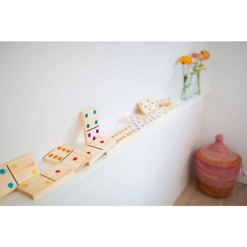 Drewniane kolorowe Domino XL