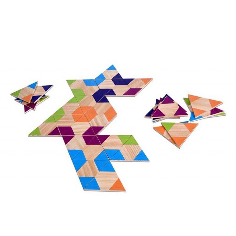 Domino drewniane Trójkąty