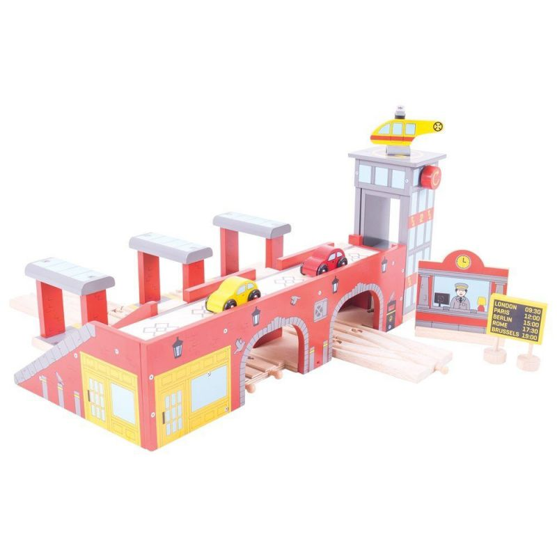 Wielka stacja kolejowa do kolejek drewnianych