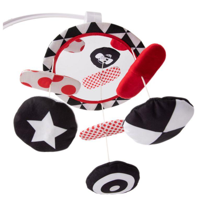 Kontrastowa karuzela pluszowa z pozytywką Sensory Toys Canpol Babies