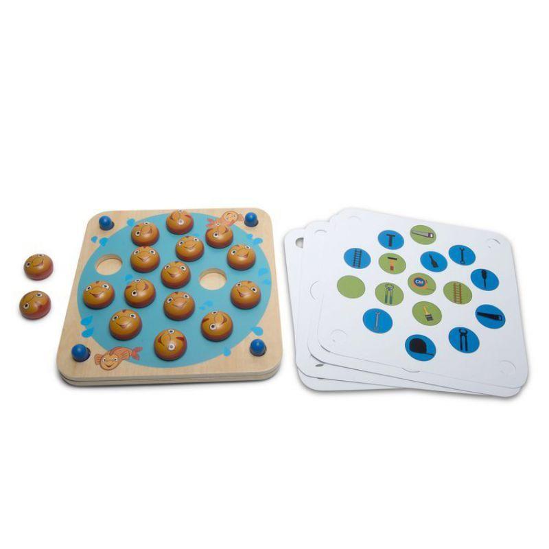 Drewniana gra pamięciowa memo - 8 wzorów