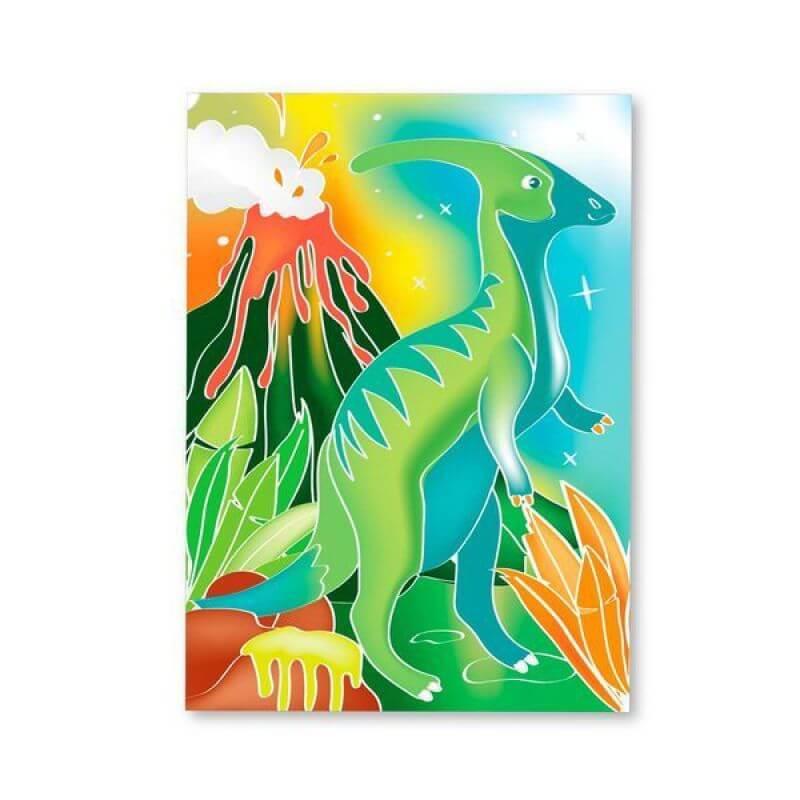 Zestaw artystyczny akwarele dinozaury