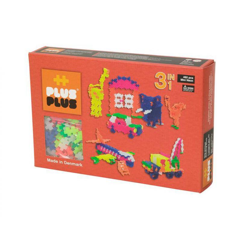Plus-Plus, Mini Neon - 480 szt. 3 w 1