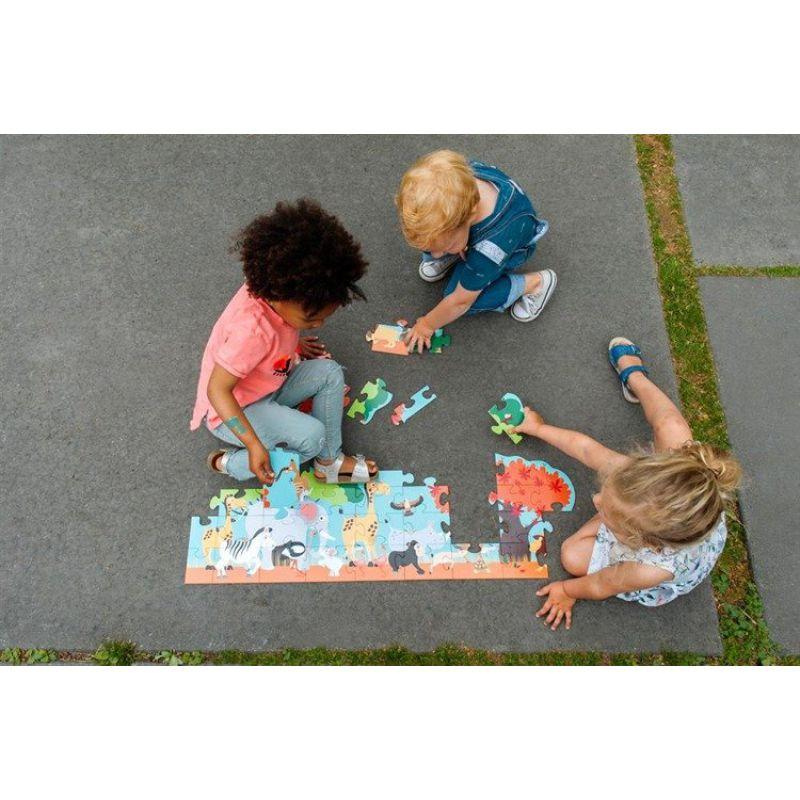 Scratch Puzzle podłogowe SAFARI 36 szt.