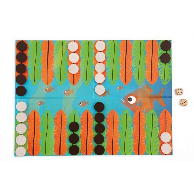 Scratch, Gra Backgammon Wyścig Piranii