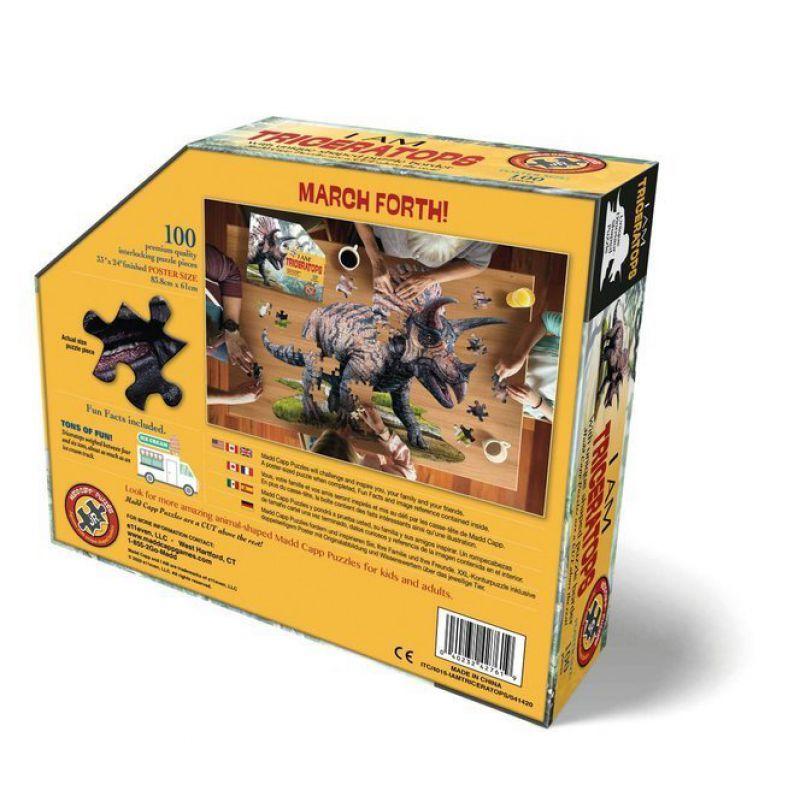 MADD CAPP,  Puzzle konturowe I AM TRICERATOPS - 100 elem.