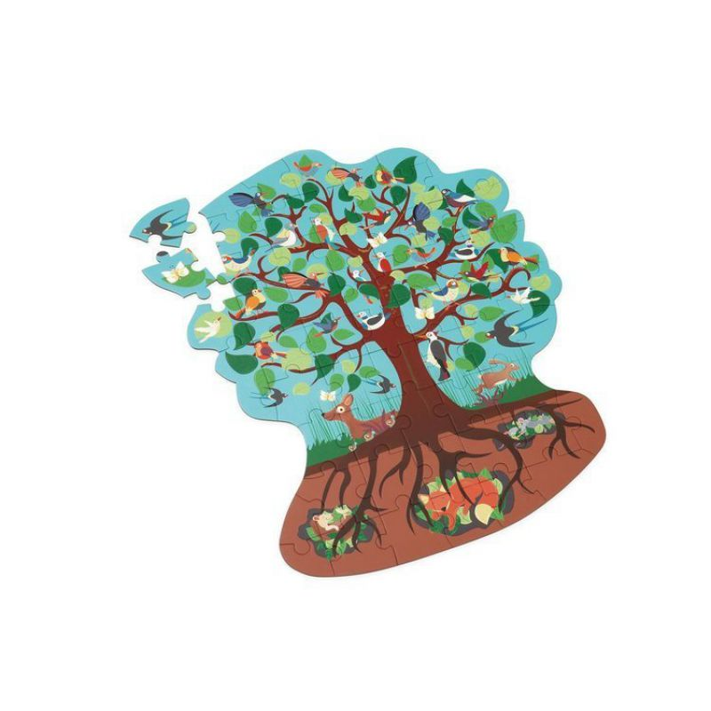 Scratch, Puzzle konturowe Leśne drzewo 58 elem.