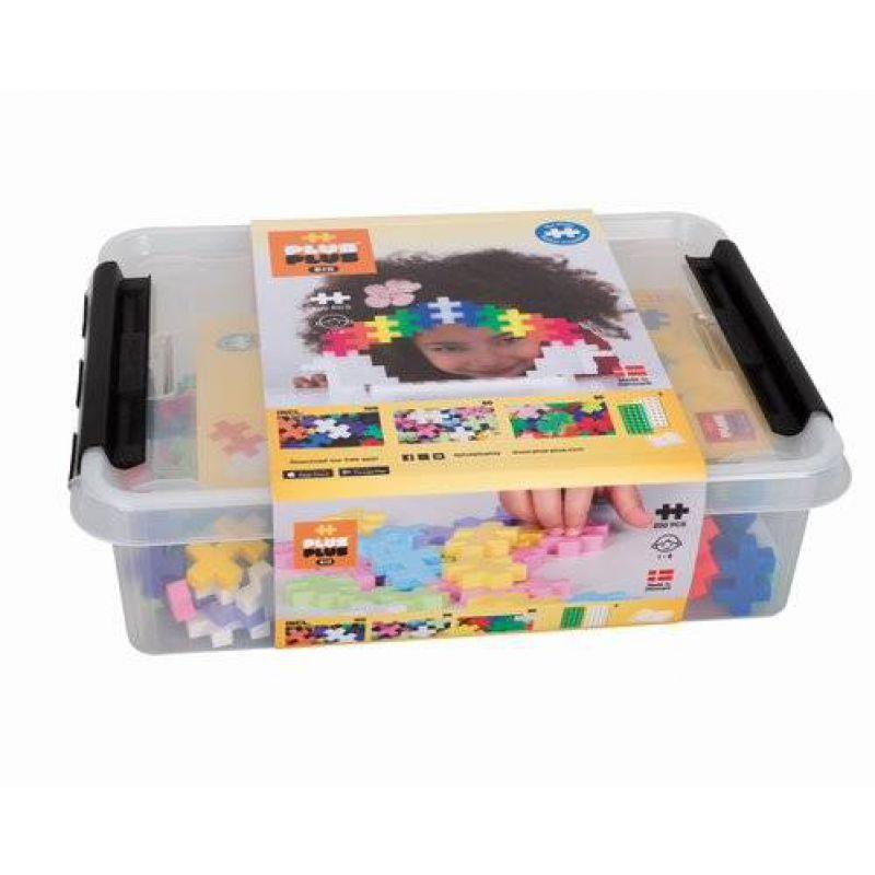 Plus-Plus, Midi Mix 200 szt. (100 Basic 50 Neon 50 Pastel + 2 płytki)