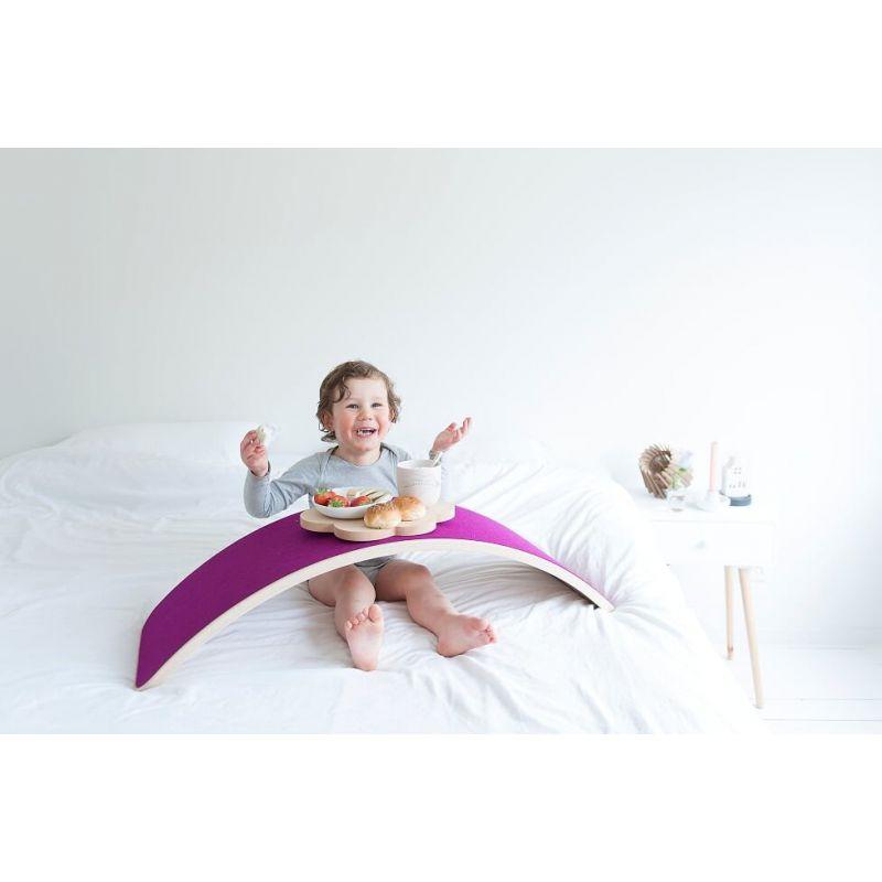 Deska do balansowania Original bielona z filcem, Mouse, Wobbel
