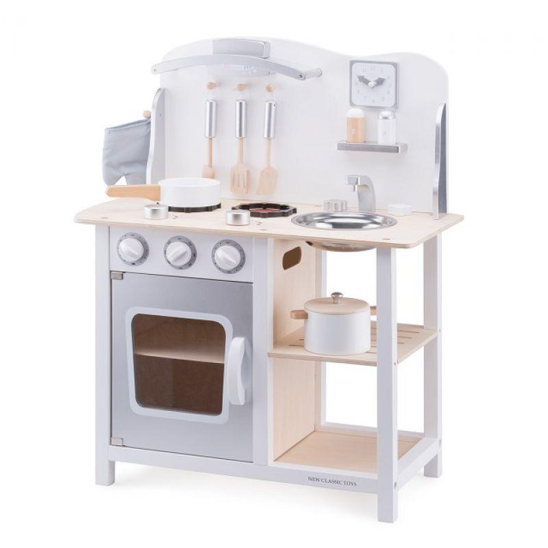 Kuchnia Drewniana Dla Dzieci Srebrna Dobre Zabawki